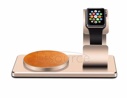 For iWatch Wireless Charger with Supporting Frame Gold
