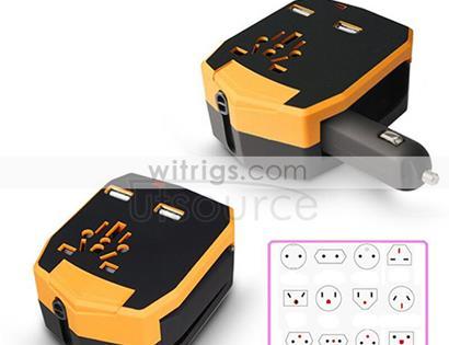 Universal Armour Travel Adapter Orange