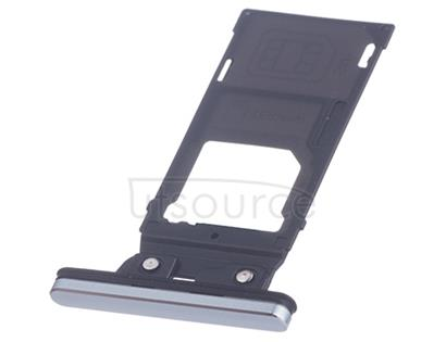 OEM Dual SIM Card Tray + SIM Cover Flap for Sony Xperia XZ2 Premium Chrome Silver With this new Dual SIM Card Tray + SIM Cover Flap for Sony Xperia XZ2 Premium, you can use it to replace the damaged, scratched or got loose sim card tray. This card tray comes with sim card tray and sim card cover flaps.