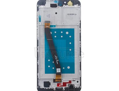 Custom Screen Replacement with Frame for Huawei Honor 7X Blue