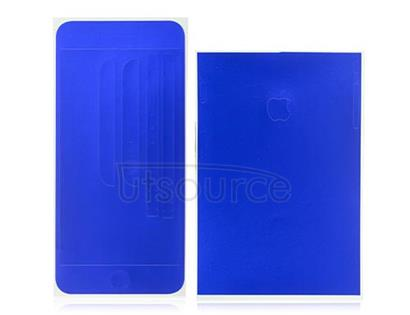 Full Front Screen Protector + Back Skin Sticker Set for iPhone 6 Plus/6S Plus Blue