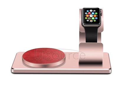 For iWatch Wireless Charger with Supporting Frame Rose Gold