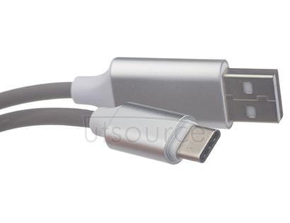 New USB Sync & Charge Cable with Sound Light Sensor for Type-C Port Red