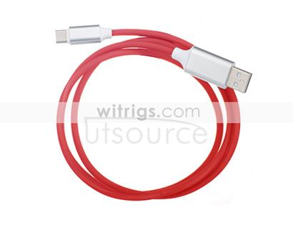 New USB Sync & Charge Cable with Sound Light Sensor for Micro Port Red