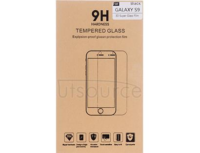 3D Full-covered Screen Protector for Samsung Galaxy S9 Black/Transparent