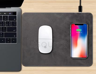 Q12 Wireless Charging Mouse Pad Black
