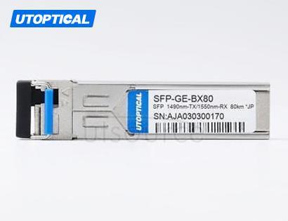 Juniper SFP-GE80KT14R15 Compatible SFP-GE-BX80 1490nm-TX/1550nm-RX 80km DOM Transceiver
