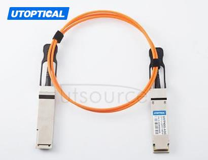 50m(164.04ft) Dell Force10 CBL-QSFP-40GE-50M Compatible 40G QSFP+ to QSFP+ Active Optical Cable