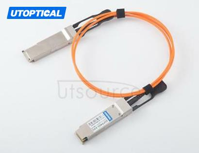 30m(98.43ft) Utoptical Compatible 40G QSFP+ to QSFP+ Active Optical Cable