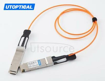 50m(164.04ft) Utoptical Compatible 40G QSFP+ to QSFP+ Active Optical Cable