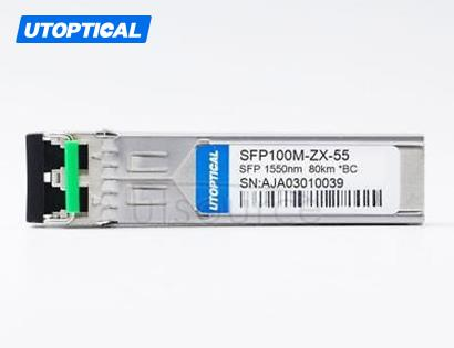 Brocade E1MG-100ZX-80 Compatible SFP100M-ZX-55 1550nm 80km DOM Transceiver