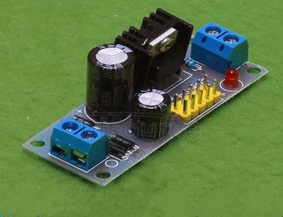 L7805 LM7805 three-terminal voltage regulator module 5V voltage regulator module 1 board size: 5.7cm*2.3cm Input voltage: the input voltage is non-polar, both ac and dc can be, the range is: 7.5v-20v Output voltage 5v Maximum output current: 1.2a Fixed bolt hole for easy installation