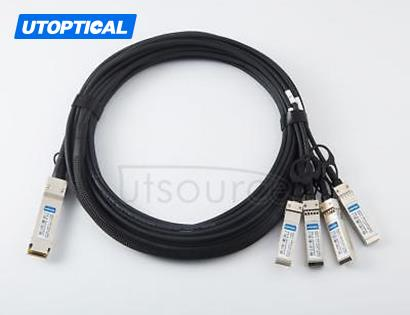 3m(9.84ft) Utoptical Compatible 100G QSFP28 to 4x25G SFP28 Passive Direct Attach Copper Breakout Cable