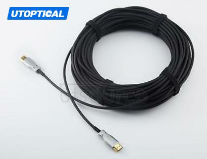 UTOPTICAL  HDMI Fiber Cable 333 feet Light High Speed Support 18.2 Gbps 4K at 60Hz HDMI 2.0 ,  Flexible With Optic Technology 100m