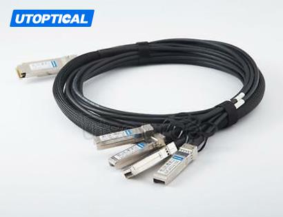 5m(16.4ft) Utoptical Compatible 100G QSFP28 to 4x25G SFP28 Passive Direct Attach Copper Breakout Cable