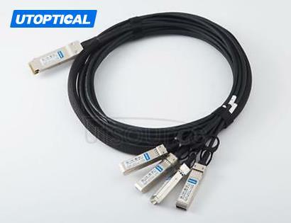 0.5m(1.6ft) Utoptical Compatible 40G QSFP+ to 4x10G SFP+ Passive Direct Attach Copper Breakout Cable