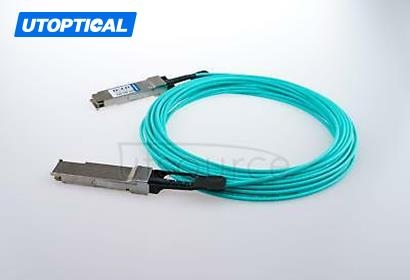 100m(328.08ft) Utoptical Compatible 40G QSFP+ to QSFP+ Active Optical Cable