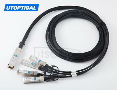 5m(16.4ft) Alcatel-Lucent QSFP-4X10G-C5M Compatible 40G QSFP+ to 4x10G SFP+ Passive Direct Attach Copper Breakout Cable