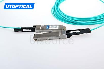 70m(229.66ft) Utoptical Compatible 40G QSFP+ to QSFP+ Active Optical Cable