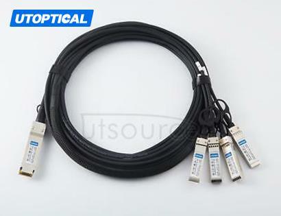 5m(16.4ft) Brocade 100G-Q28-S28-C-0501 Compatible 100G QSFP28 to 4x25G SFP28 Passive Direct Attach Copper Breakout Cable