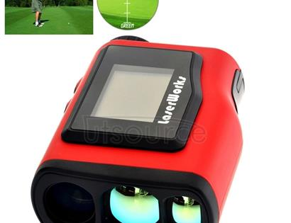LaserWorks Waterproof Handheld Special Laser Rangefinder Telescope with 1.8 inch External Display for Golf(Red)