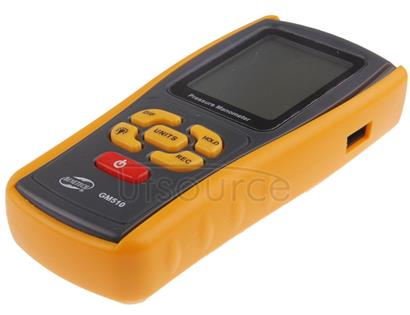BENETECH GM510 LCD Display Pressure Manometer(Yellow)