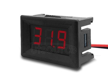 10 PCS 0.36 inch 2 Wires Digital Voltage Meter with Shell, Color Light Display, Measure Voltage: DC 2.5-30V (Red)