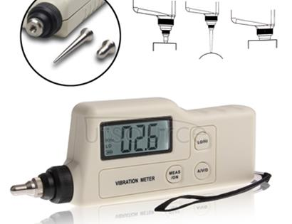 Vibration Meter Digital Tester Vibrometer Analyzer Acceleration Velocity (GM63A)(White)