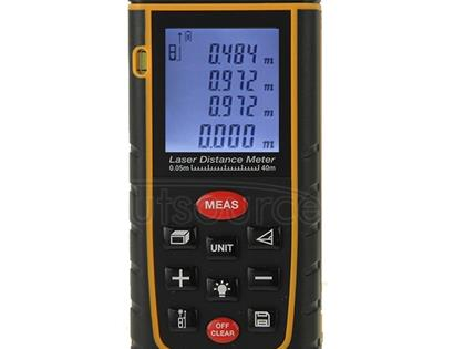 RZ-A40 1.9 inch LCD 40m Hand-held Laser Distance Meter with Level Bubble