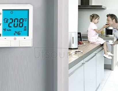 Electric Floor Heating System LCD Display Programmable Room Thermostat(Black)