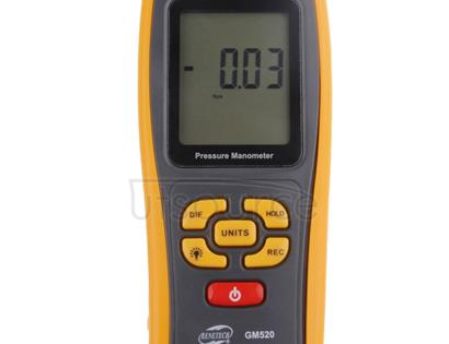 BENETECH GM520 LCD Display Pressure Manometer(Yellow)