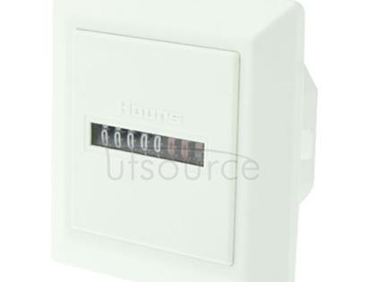HM-1 AC Hour Meter, Time Setting Range: 0-99,999.99 Hours(White)