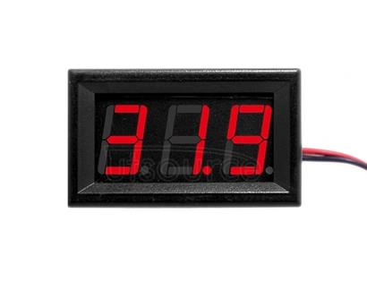10 PCS 0.56 inch 3 Terminal Wires Digital Voltage Meter with Shell, Color Light Display, Measure Voltage: DC 0-100V (Red)