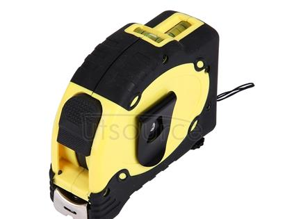 Laser Level with Tape Measure Pro (25 feet) & Belt Clip / Can be Attached to Tripod(Yellow)
