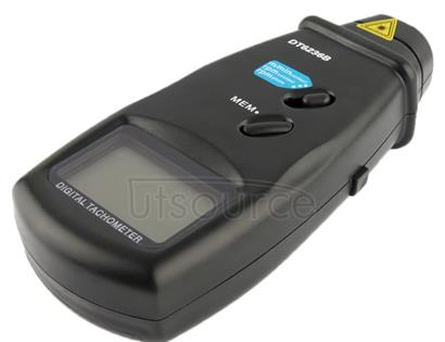Contact / Non Contact Laser Digital Tachometer (DT6236B)(Black)