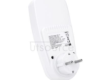 AC 230V 50Hz Max 16A LCD Display Energy Meter Watt Volt Voltage Power Analyzer Automatic Electricity Monitor Analyzer Power, EU Plug