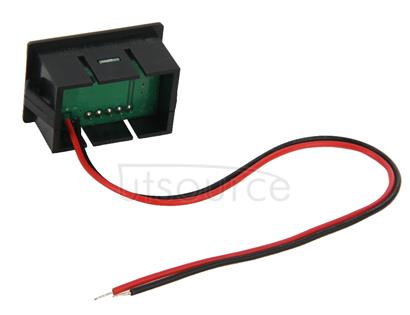 V33D 2 Wires Red Light Display Mini Digital Voltage Meter, Measure Voltage: DC 4.5-120V