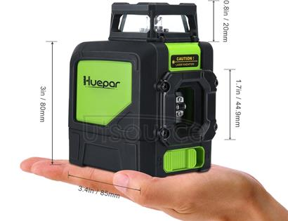 901CG H360 Degrees / V130 Degrees Laser Level Covering Walls and Floors 5 Line Green Beam IP54 Water / Dust proof(Green)