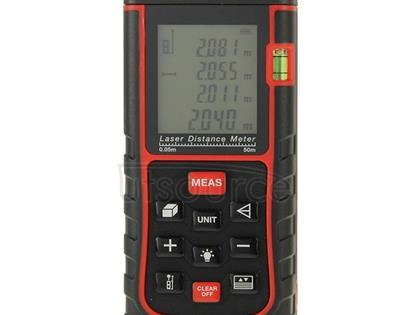 RZ-E50 Digital Handheld Laser Distance Meter, Max Measuring Distance: 50m(Red)