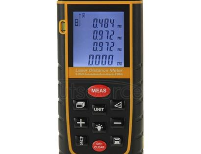 RZ-A60 1.9 inch LCD 60m Hand-held Laser Distance Meter with Level Bubble