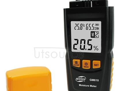 BENETECH GM610 Digital Wood Moisture Meter(Black)