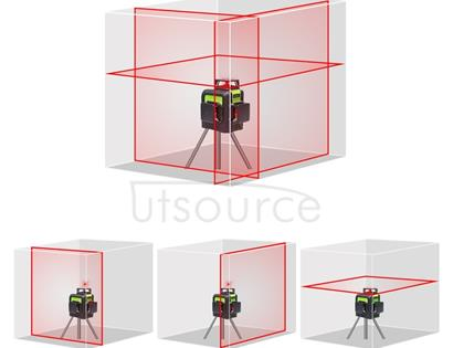 903CR 3×360 Degrees Laser Level Covering Walls and Floors 12 Line Red Beam IP54 Water / Dust proof(Red)