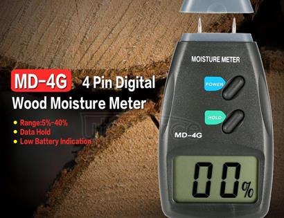 MD-4G 4 Pins Wood Moisture Meter Digital LCD Soil Grain Moisture Meters