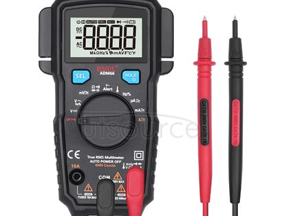 BSIDE ADM66 Handheld Household 6000 Count AC / DC Current Voltage Capacitor Automatic Range Multimeter with LCD Backlight & Card Slot Function