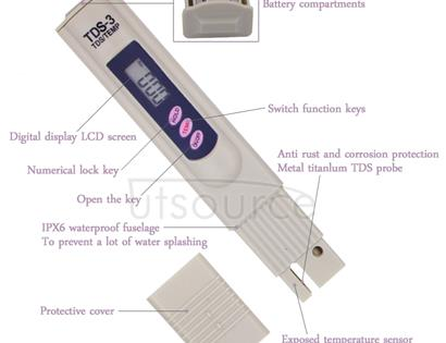Digital TDS Meter Tester Filter Water Quality Purity Tester Drinking Water Minerals Testing Tool
