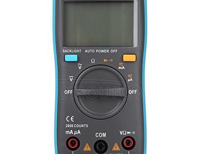 ZT98 CAT III  600V Portable Digital Multimeter 2000 Counts Back-light AC / DC Current Voltage Tester Meter with LCD Screen & Holder