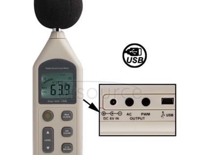 Digital Sound Level Meter with USB Port(Range: 30dB~130dB)(Beige)