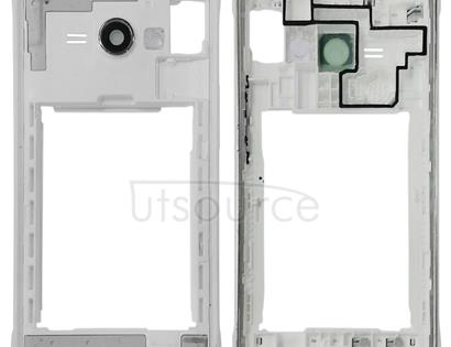 Middle Frame Bezel Plate for Galaxy J1 Ace / J110M / J110F / J110G / J110L(White)