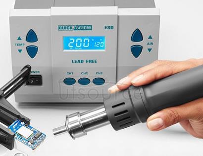 QUICK 861DW 220V 1000W Digital Display Lead-free Intelligent Hot Air Gun Desoldering Station, AU Plug
