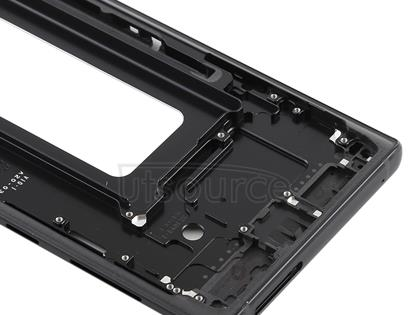 Front Housing LCD Frame Bezel for Galaxy Note9(Black)
